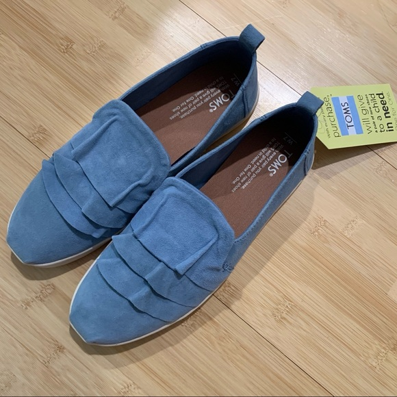 Toms Shoes | Blue Suede 7 | Poshmark